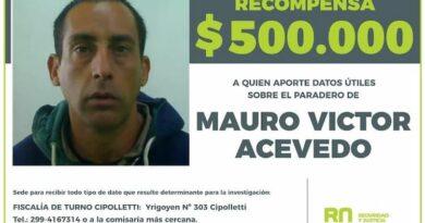 Recompensa de $500.000 para dar con el paradero de Mauro Víctor Acevedo